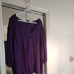 Purple Sweater by Lane Bryant